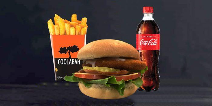 Chicken Deluxe Burger Combo Website